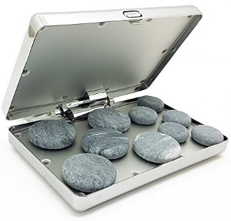 Royal Massage Chrome Case Hot Stone Heater