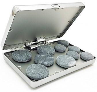 Royal Massage Chrome Case Hot Stone Heater