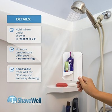 Deluxe Shave Well Fog-Free Shaving Mirror